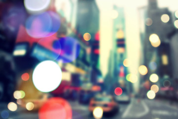 Blurred bokeh New York
