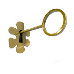 conceptual image of a lock shaped puzzle piece