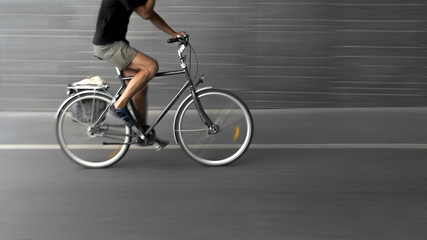 cyclist on black bike