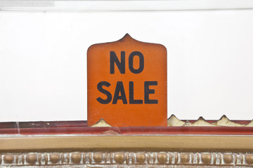 Vintage No Sale Sign