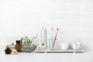 歯ブラシ 温度計 洗面所