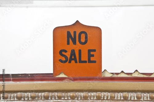 Vintage No Sale Sign