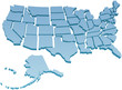 US Map separate United States - 68891440