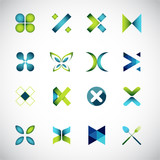 Abstract icons based on the letter X