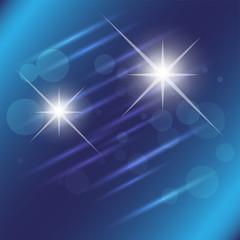 Blue star light effect background