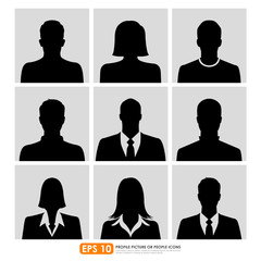 Avatar profile picture icon set including businespeople