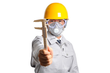 作業服をきている男性