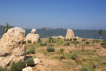 Rocky mountain view of fethiye in turkey