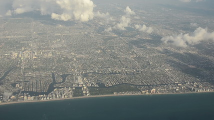 Aerial view of Florida Coastline