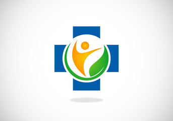 nature medical health people vector logo