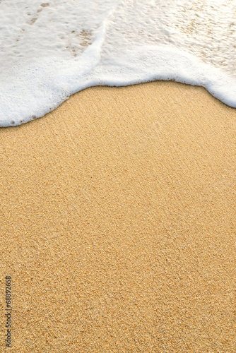 Deurstickers Water wave sand