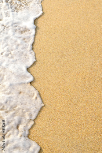 canvas print picture wave sand