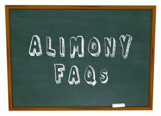 Alimony FAQs Frequently Asked Legal Questions Chalkboard