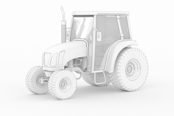 Tractor V - white isolated