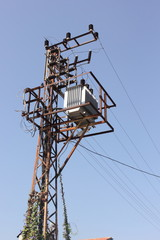 Turkish electricity pylon