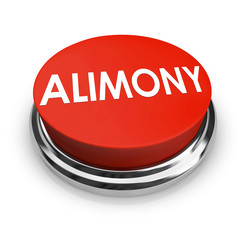 Alimony Word 3D Red Button Spousal Support Legal Help