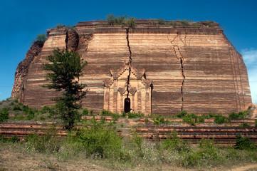 Ruined Pagoda in Mingun Paya or Mantara Gyi Paya ,Myanmar.
