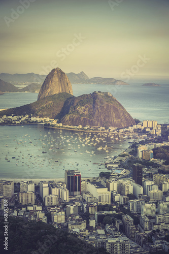 City on the water Sunset over Botafogo Bay in Rio de Janeiro