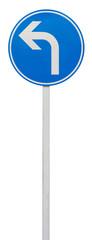 direction obligatoire à la prochaine intersection, à gauche