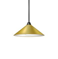 Retro brown hanging lamp