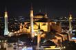Постер, плакат: Стамбул Святая София ночью