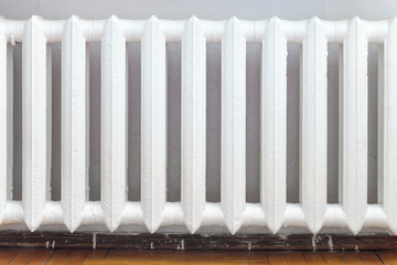 cast-iron radiator of water heating