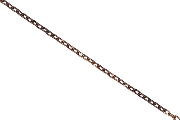 wet old rusty steel chain isolated on white
