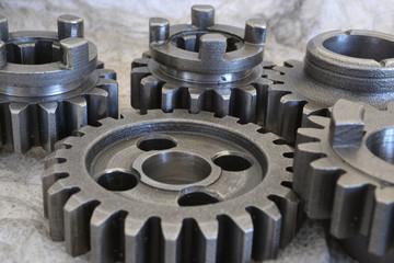 Gears on grey