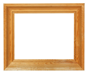 simple wooden picture frame with cutout canvas