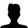 Black avatar profile on white background