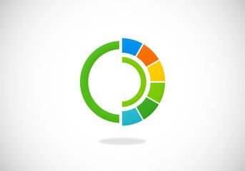round color mixer vector logo