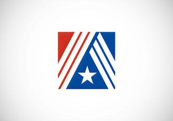 star icon military vector logo