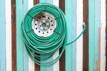 water hose hanging