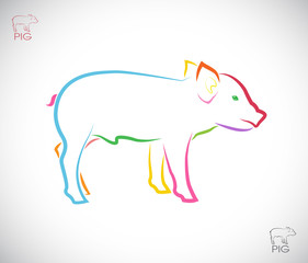 Vector image of a pig