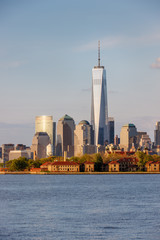 Ellis Island and Manhattan's Financial District, New York City