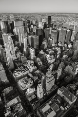 Black & White aerial view of New York City