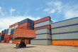 Forklift handling container box loading - 68895854