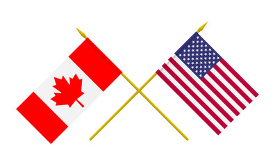 Flags, USA and Canada
