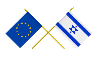 Flags, Israel and European Union