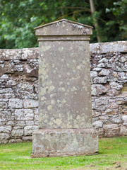 Very old gravestone in the cemetery
