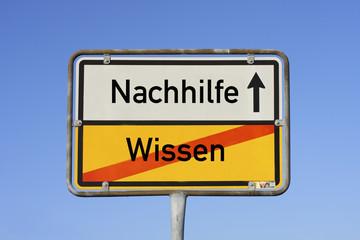 Schild Nachhilfe © Matthias Buehner