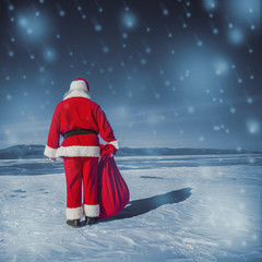 The holiday is over, Santa takes a vacation