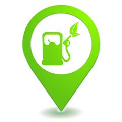 carburant écologique sur symbole localisation vert