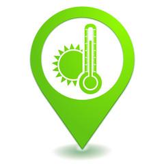 chaud sur symbole localisation vert
