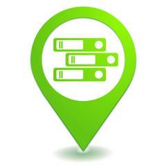 classer sur symbole localisation vert
