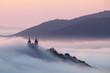 Calvary over clouds in Banska Stiavnica, Slovakia - 68898003