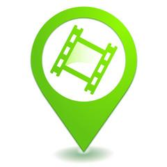 pellicule photo sur symbole localisation vert