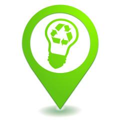 recyclage des ampoules sur symbole localisation vert