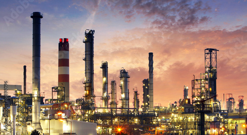 Factory - oil and gas industry poster