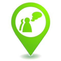 témoignages sur symbole localisation vert